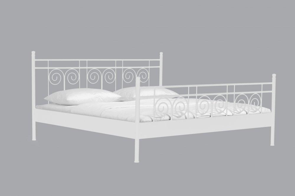 Dvoulůžková postel SATURN - RHODOS  (bílá)