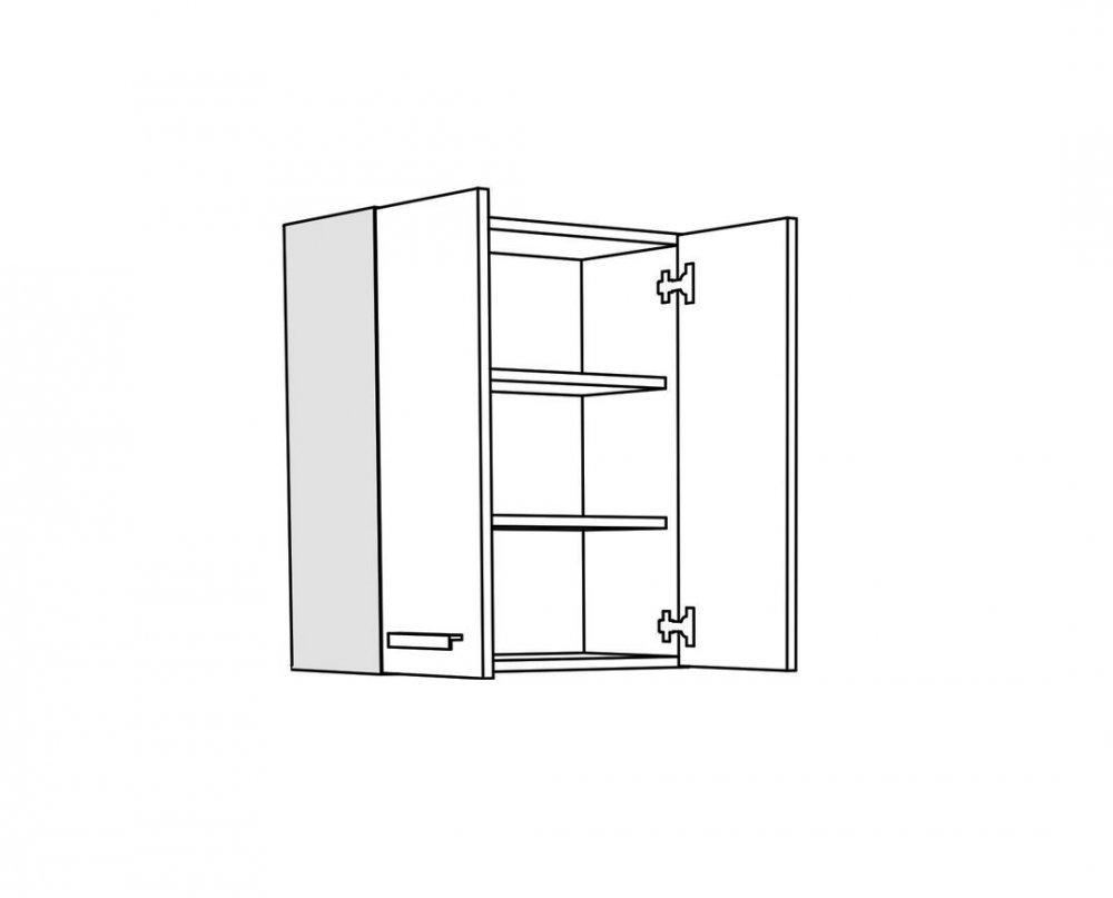 Horní skříňka IN MDF V 60 - bordo lesk