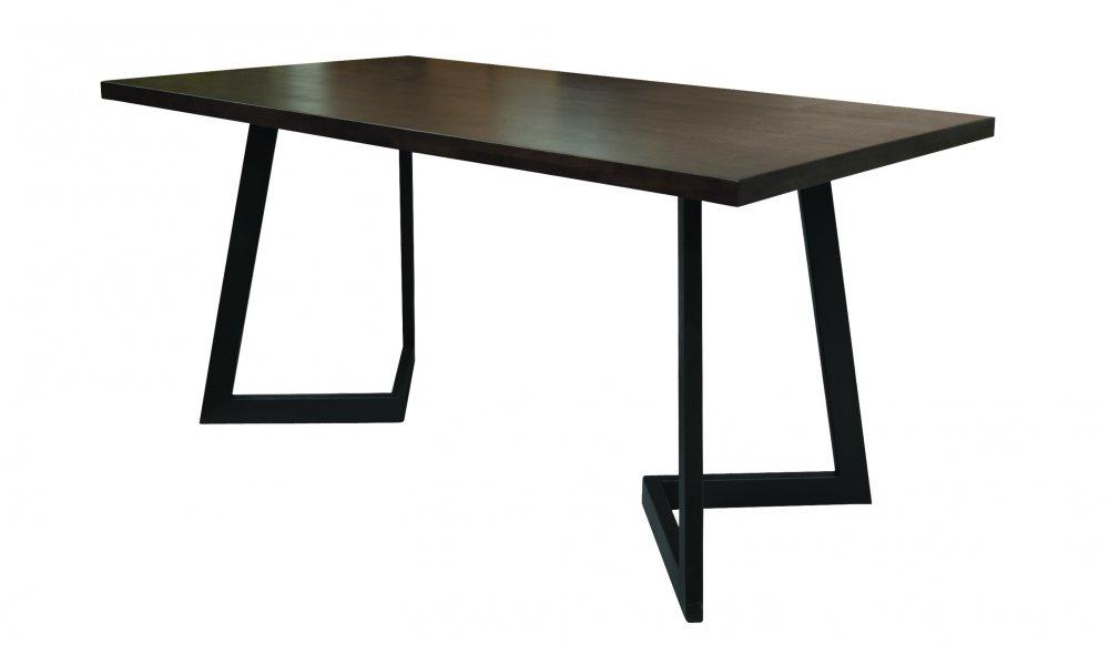 Jídelní stůl Pablo V 140x80 - tmavý ořech/antracit