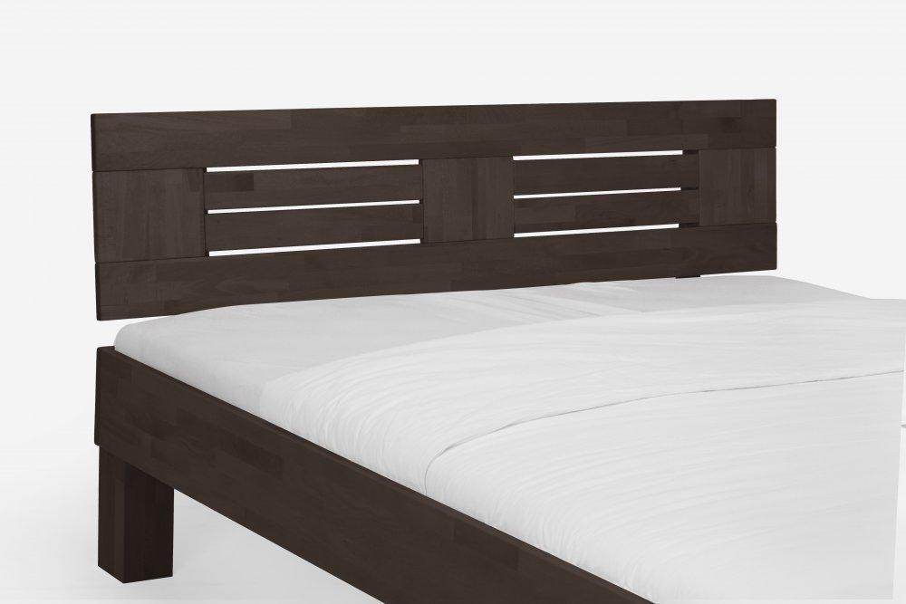 Dvoulůžková postel Classic system 375.KT - (masivní lakovaný buk - wenge)