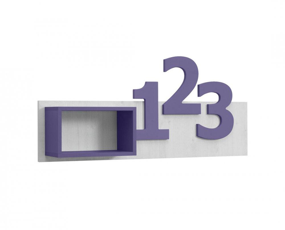 Police Numero číslice  - dub bílý/fialová
