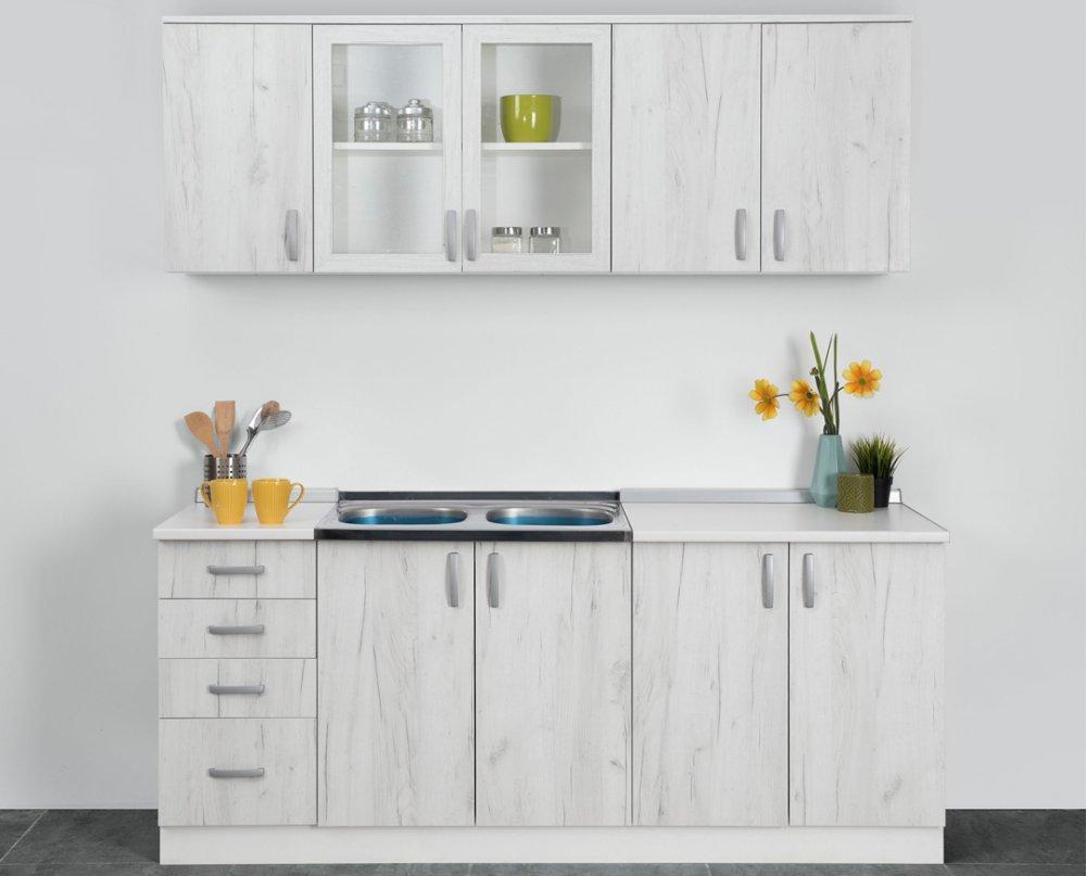 Kuchyně Standard 200 - dub sněhový