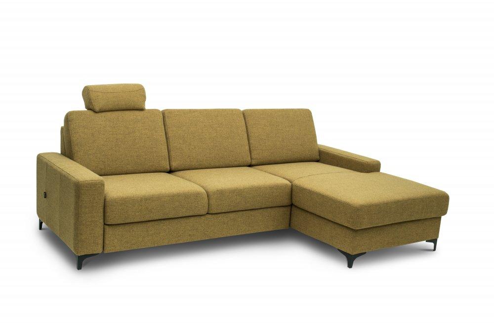 Rohová sedací souprava SOHO - žlutá