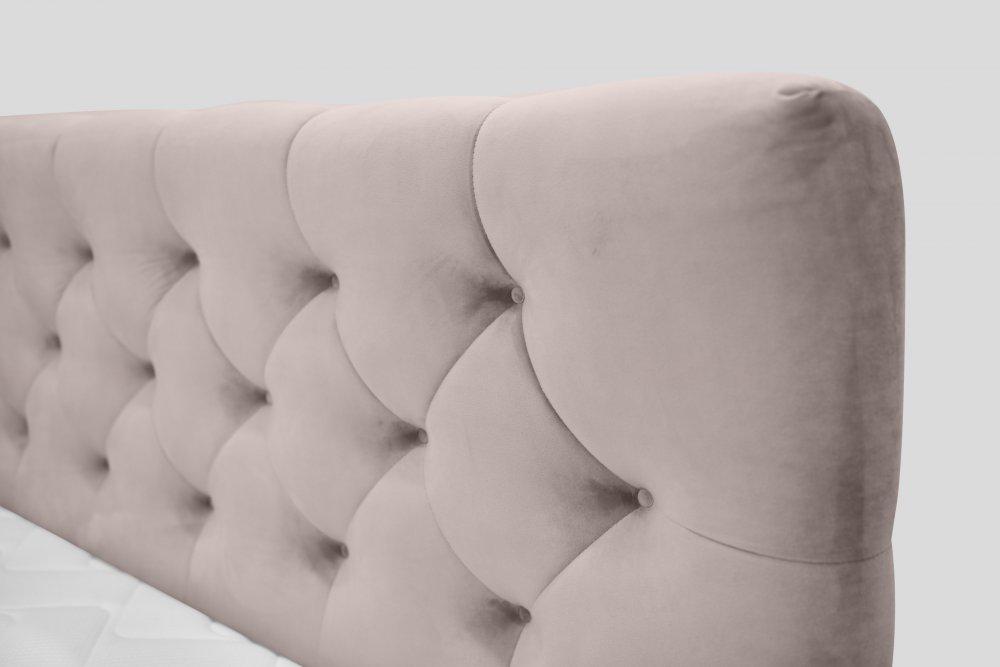 Boxspring  postel TITTO 160 - růžová