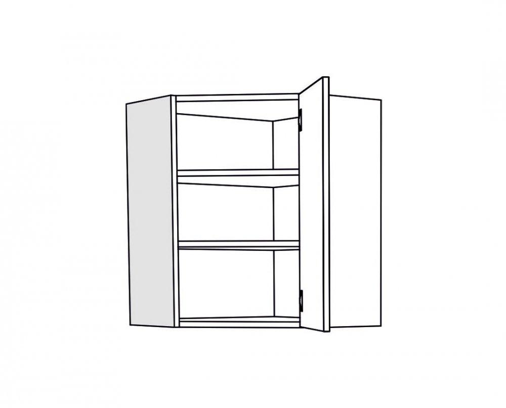 Horní skříňka IN MDF VU 60 - fialová lesk