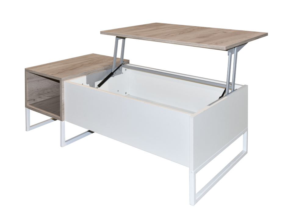 Konferenční stůl Pegaz - dub šedý a bílá