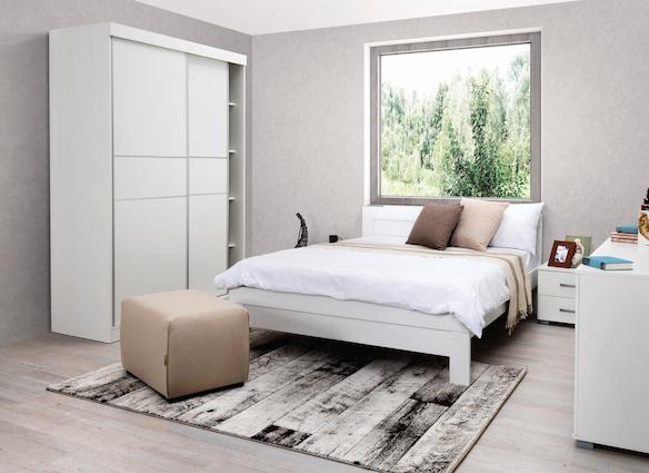 Rám postele Woody Classic - bílá - 180x200