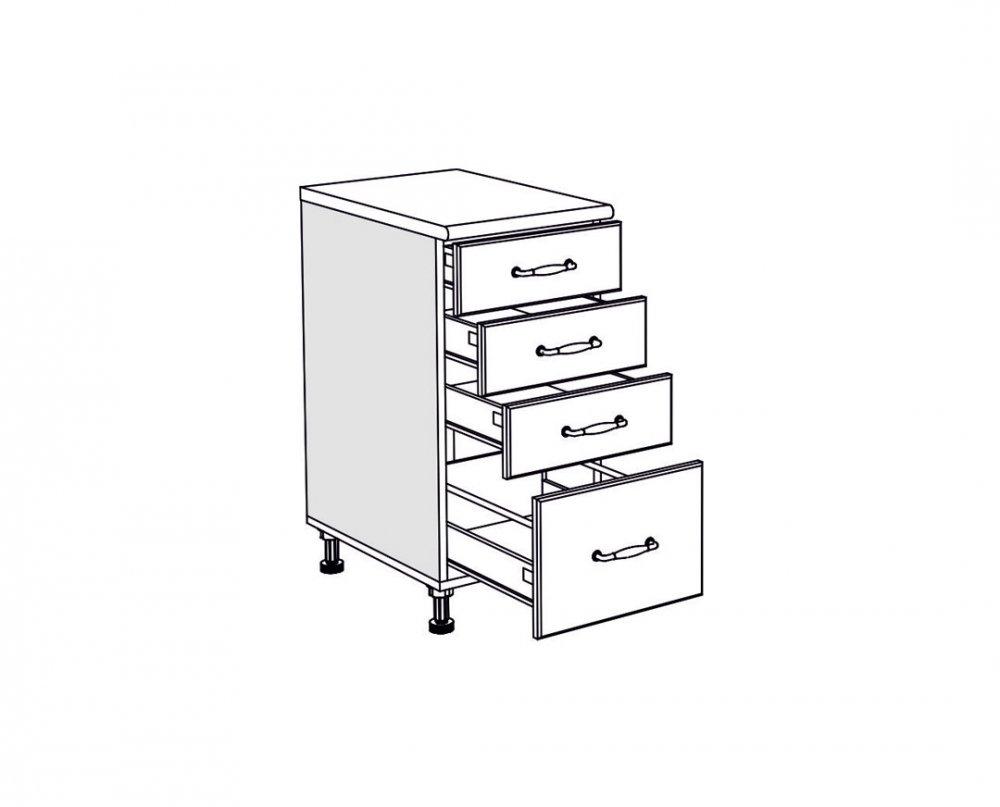 Spodní skříňka IN MDF D 40 F PL-BOX - bordo lesk