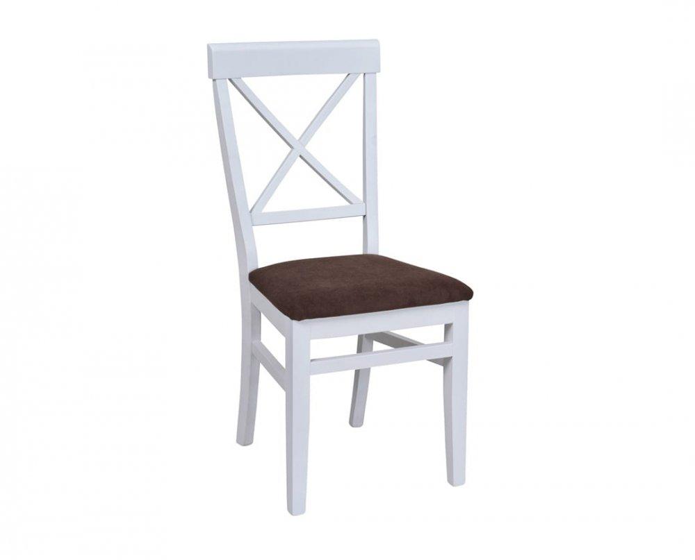Židle Drina - bílo-hnědá
