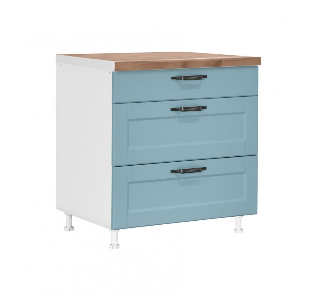 Spodní skříňka IN D80 3F CONTEMPO - modrá