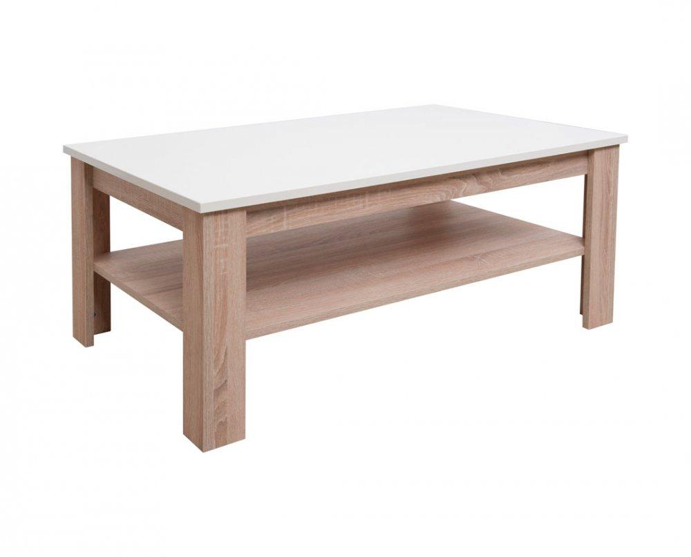 Konferenční stolek Veneto - dub bardolino/béžová lesk