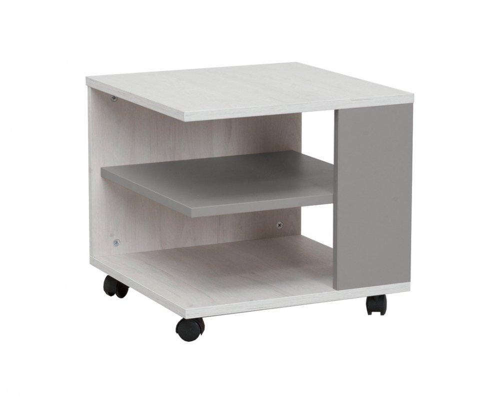 Konferenční stolek Numero - dub bílý/šedá