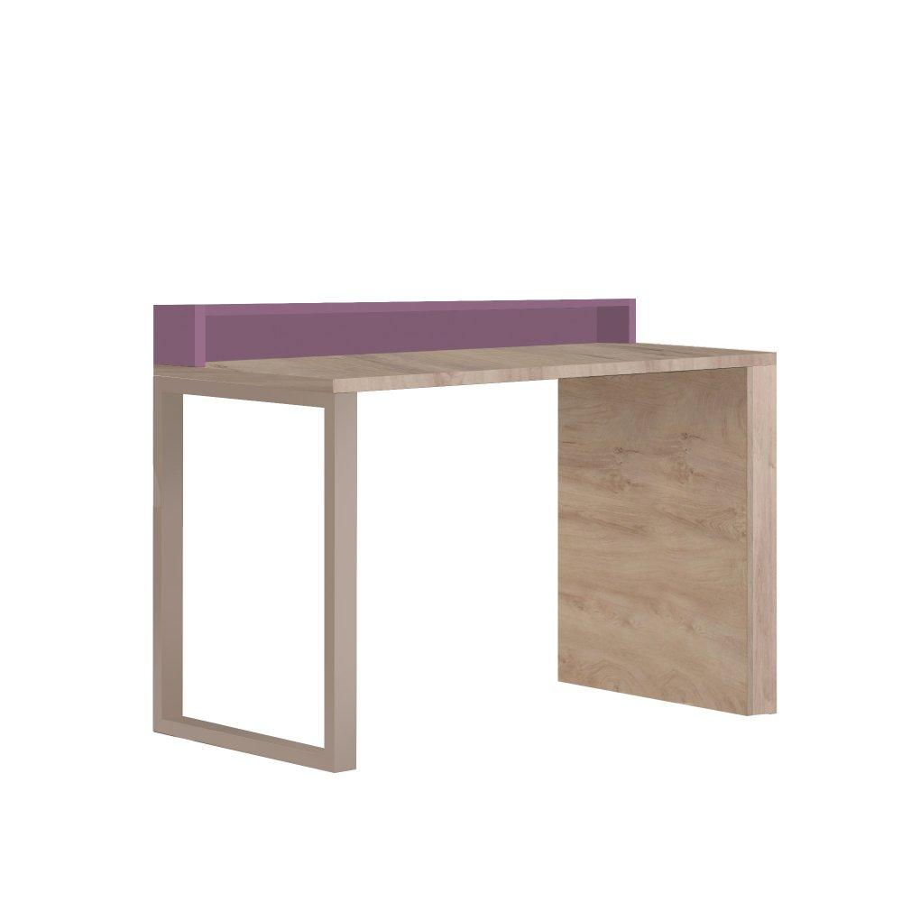 Pracovní stůl Kinder - dub šedý/fialová