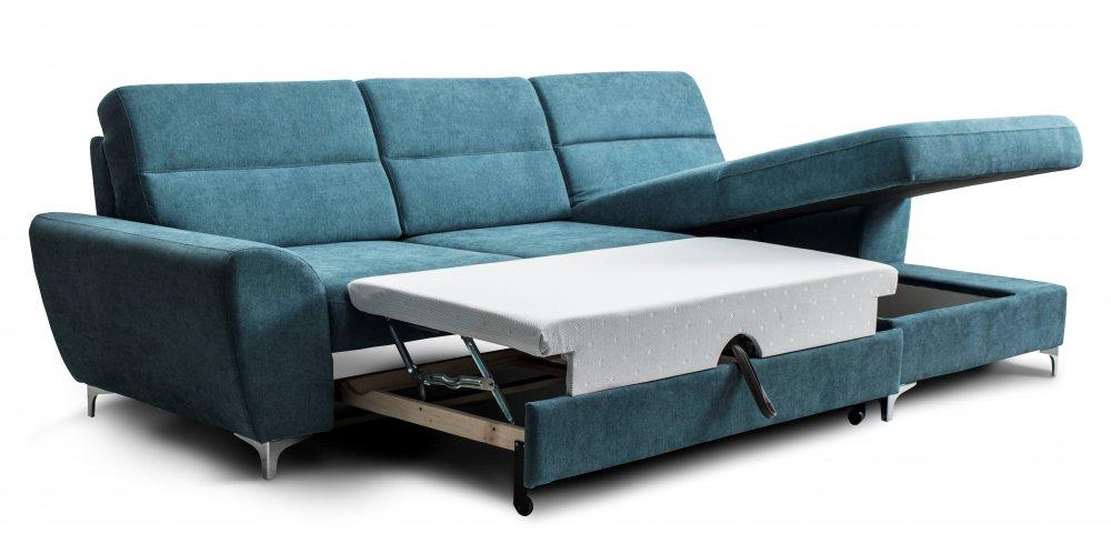 Rohová sedací souprava HYDRA - světle modrá