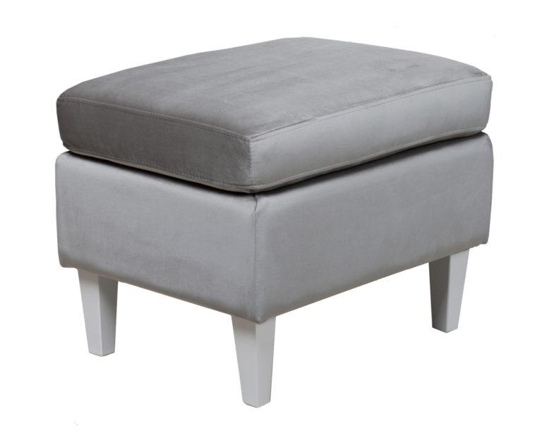 Taburet Grazia Lux - šedý