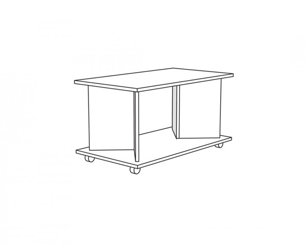 Konferenční stolek Hermes - dub bělený