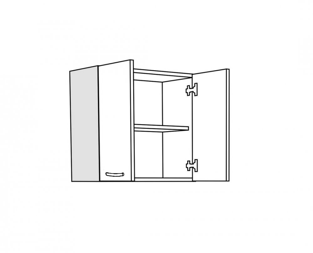 Horní skříňka V60A - dub sněhový