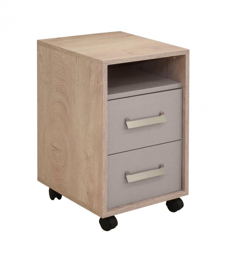 Noční stolek Kinder - dub šedý/písek