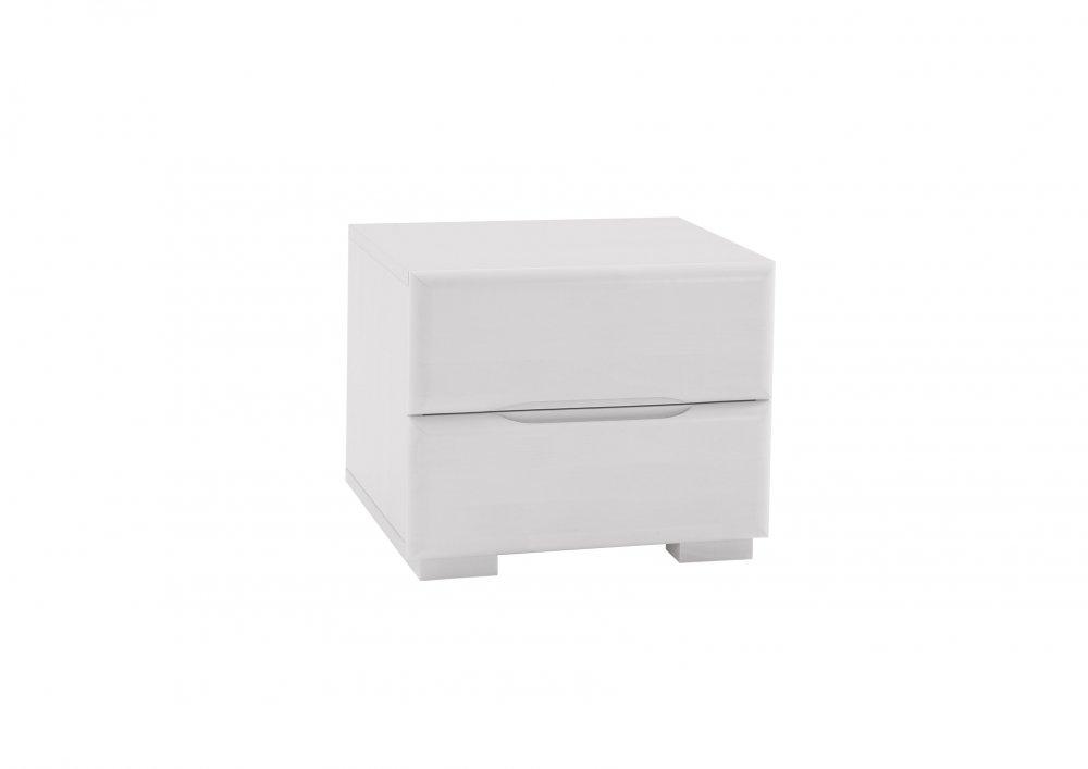 Noční stolek Avantgarde system - 97 (masivní bíle lakovaný buk)