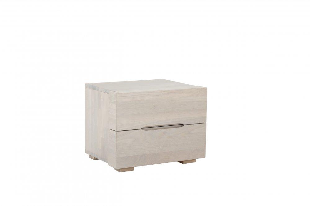 Noční stolek Select standart system - 63(masivní divoký dub-bílý)