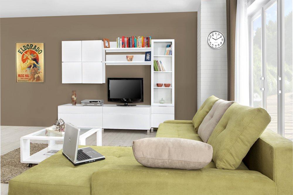 TV komoda Quadro - bílá lesk