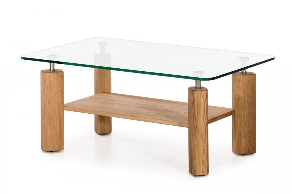 Konferenční stolek Elias Glass  - dub natur (olej)