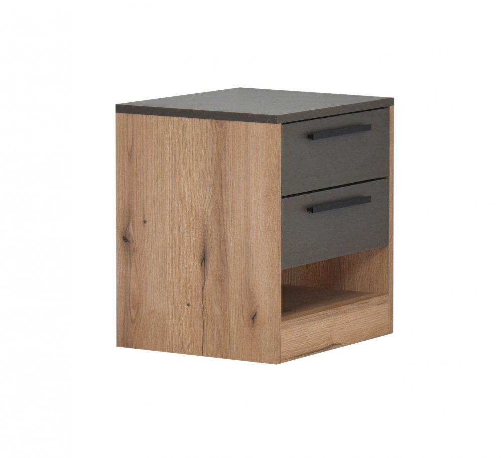 Noční stolek Kaliopa - artisan/šedá