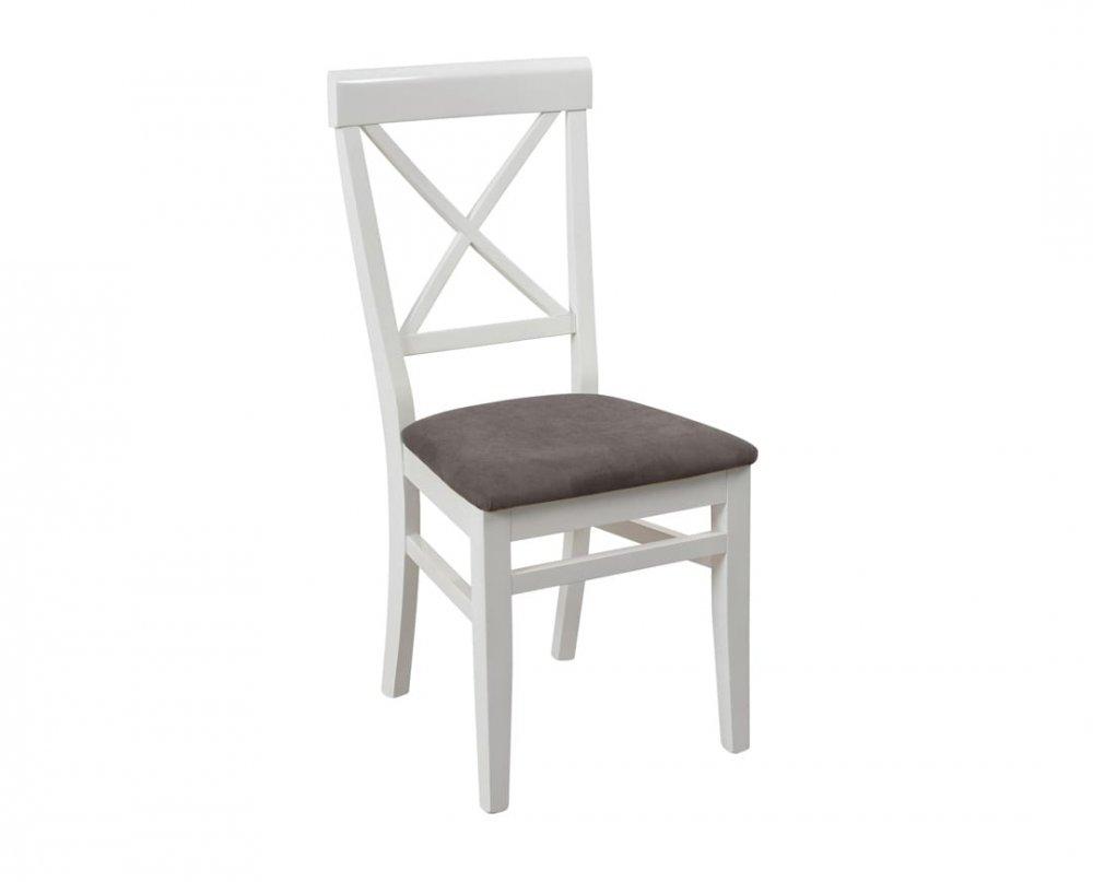 Židle Drina - bílo-šedá