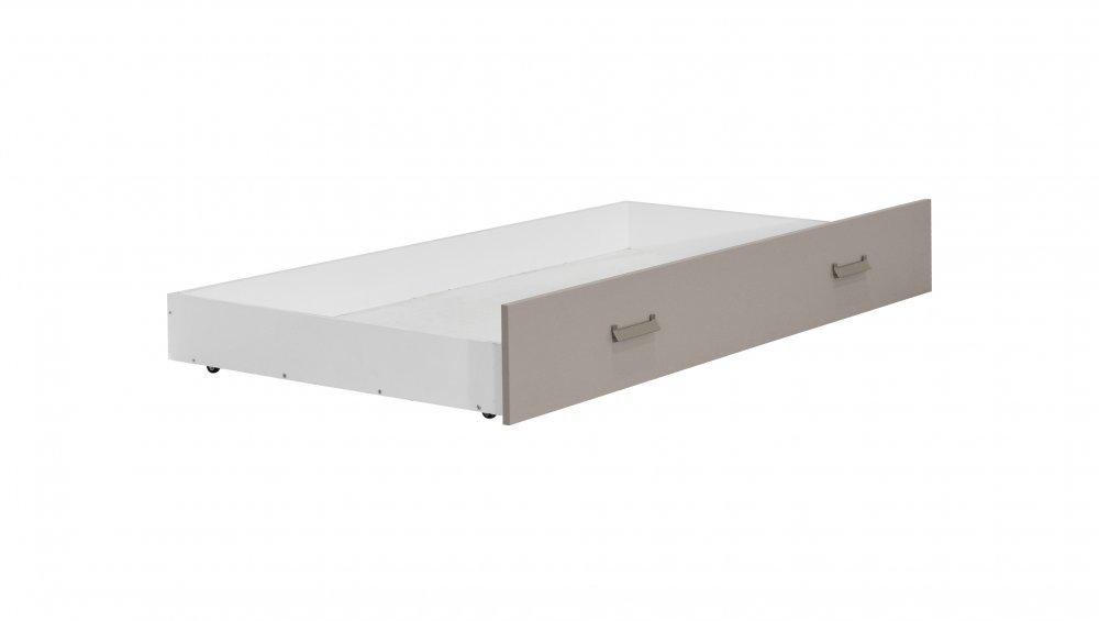 Dětská zásuvka postele Kinder - bílá/písek