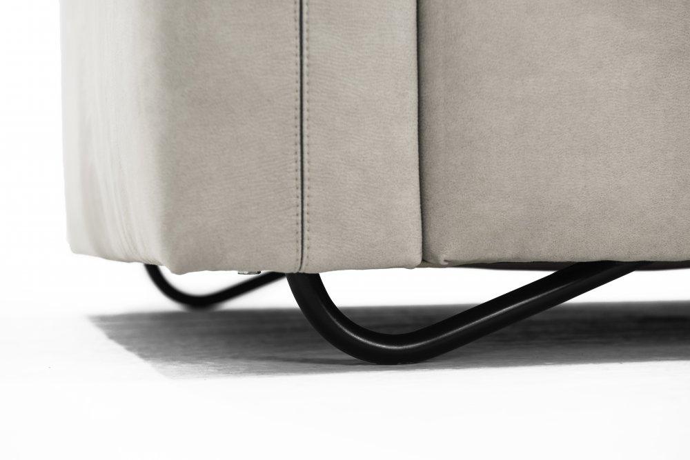 Rohová sedací souprava TAORMINA - šedý