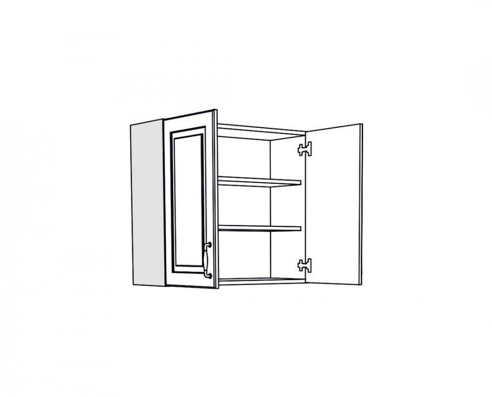 Horní skříňka IN MDF V 80 - béžová lesk