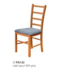 Židle INES - dub a šedá
