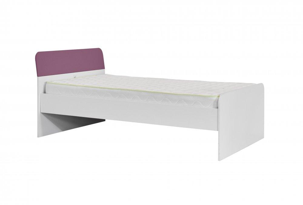 Dětská postel Kinder 120 - bílá/fialová