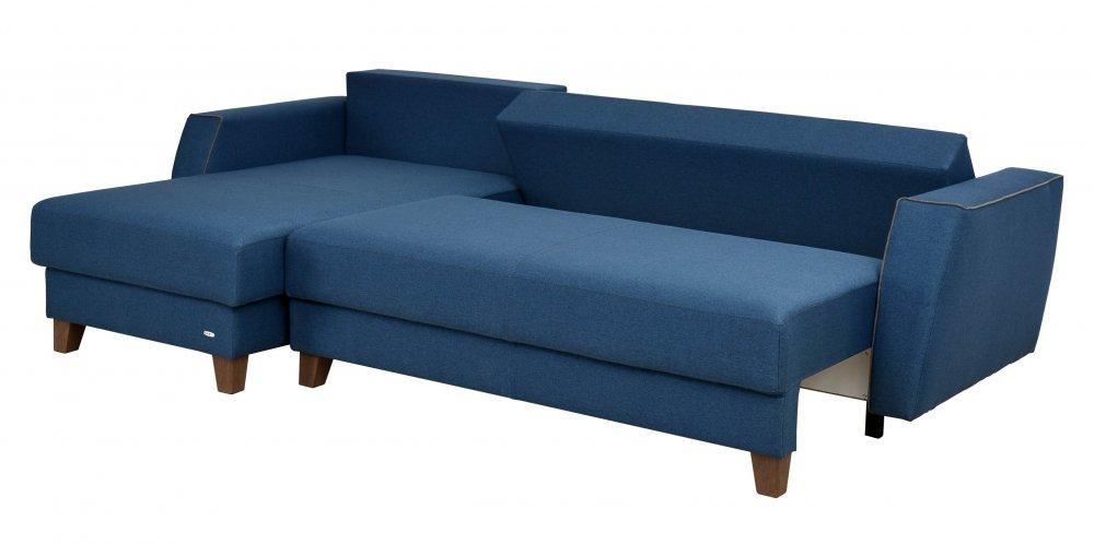 Rohová sedací souprava CUBO - modrá
