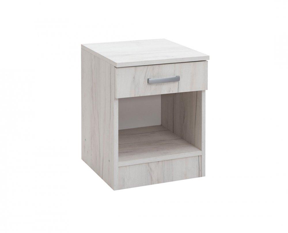 Noční stolek Alfa - dub sněhový