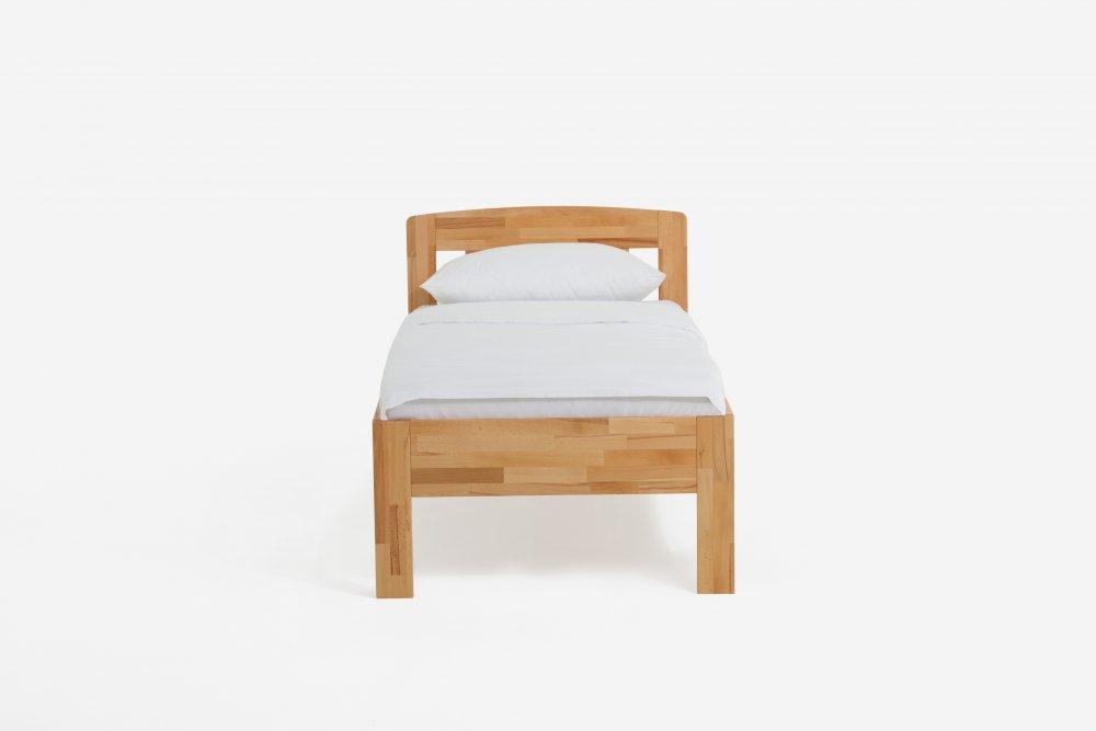 Jednolůžková postel Jasmine 420.03 - (masivní jádrový buk)