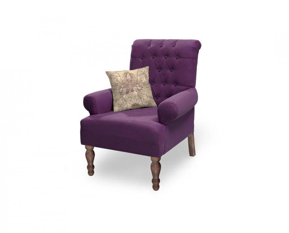 Křeslo Flora - fialové