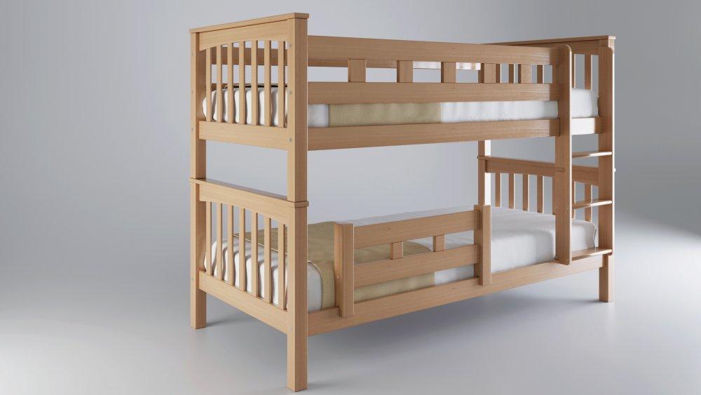 Patrová postel MARIO - buk natur