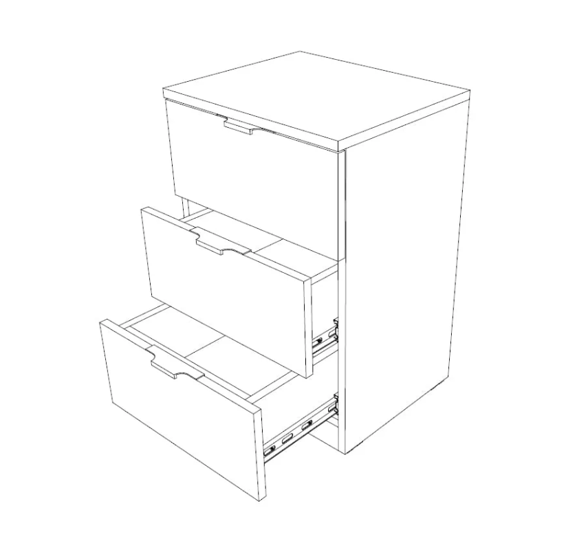 Noční stolek 3F-EL - bílá