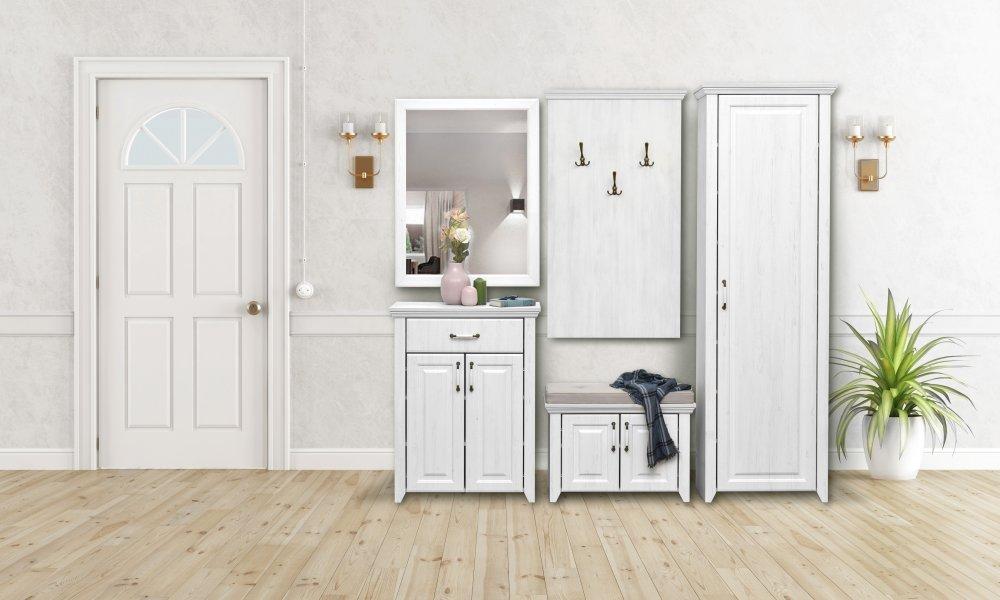 Zrcadlo Rustic - bílá