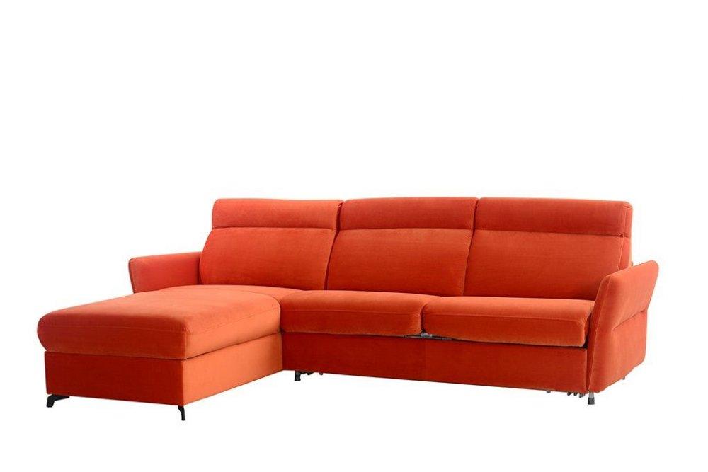 Rohová sedací souprava DELPHI - oranžová