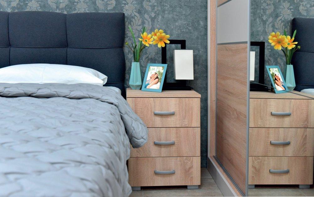 Noční stolek Matis 3F - dub