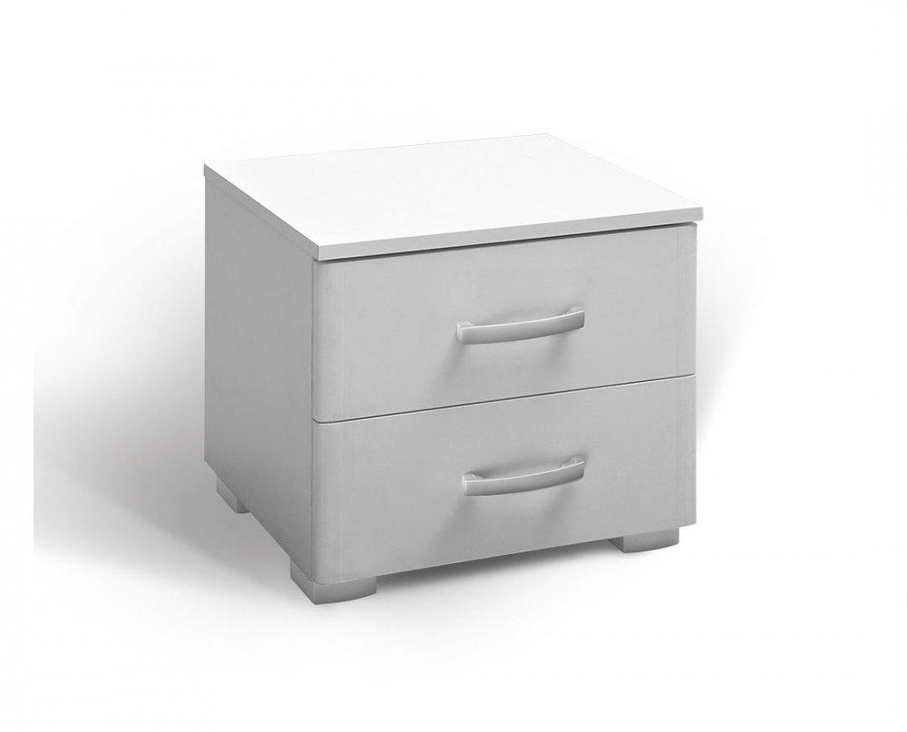 Noční stolek Matis 2F - bílá