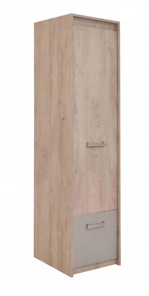 Skříň Kinder 1V1F - dub šedý/písek